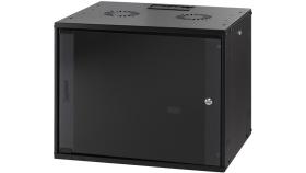 MIRSAN MR.WTC07U45.01 :: Сървърен шкаф за мрежово оборудване - 540 x 350 x 450 мм, D=450 мм / 7U, черен, за стена, ComboBox