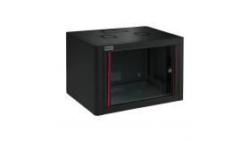 MIRSAN MR.WTE09U45.01 :: Сървърен шкаф за мрежово оборудване - 600 x 450 x 512 мм, D=450 мм / 9U, черен, за стена, Eco