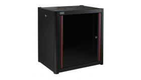 MIRSAN MR.WTN09U66.01 :: Сървърен шкаф за мрежово оборудване - 600 x 600 x 512 мм, D=600 мм / 9U, черен, за стена