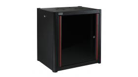 MIRSAN MR.WTN12U56.01 :: Сървърен шкаф за мрежово оборудване - 600 x 560 x 645 мм, D=560 мм / 12U, черен, за стена