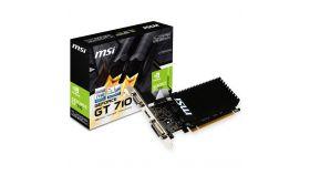 MSI Video Card NVidia GT 710 1GD3H LP (DDR3 1GB/64bit, 954MHz/1600GHz, PCI-E 2.0 x16, HDMI, DVI-D, VGA Heatsink, Low-profile) Retail
