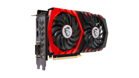 MSI Video Card GeForce GTX 1050 Ti GAMINGX GDDR5 4GB/128bit, PCI-E 3.0 x16,DP, HDMI, DVI-D, Retail