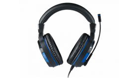 Геймърски слушалки Nacon Bigben PS4 Official Headset V3, Микрофон, Черен/Син