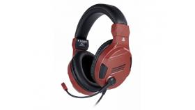 Геймърски слушалки Nacon Bigben PS4 Official Headset V3 Red, Микрофон, Червен