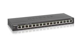 NETGEAR 16-Port Gigabit Ethernet unmanaged Desktop Switch, fanless, with wall-mount kit