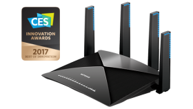 Рутер Netgear R9000, 4PT AD7200 (800 + 1733 + 4600 Mbps) Nighthawk X10 Tri-Band WiFi, Multi-MIMO, Gigabit Router, 7 x Gigabit ports, SFP+, Link Aggregation