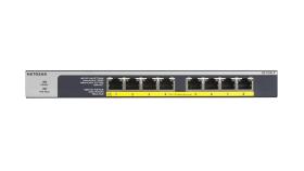Суич Netgear GS108LP, 8x 10/100/1000 ProSafe Gigabit switch, 8x POE+ ports, (Up to 60W), Fanless