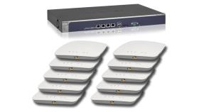 КОМПЛЕКТ Контролер за управление WC7600 и 10 бр Аксес Пойнти Netgear  WAC730 с включени лицензи