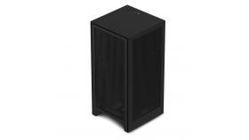 Кутия NZXT H1 Matte Black с PSU, AIO Liquid Cooler, GPU Riser