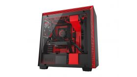 Кутия NZXT H700i Smart Mid-Tower, Black/Red
