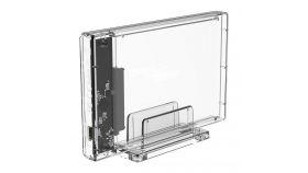 Прозрачна кутийка за 2.5-инчови HDD/SSD дискове Orico 2159C3 USB 3.1