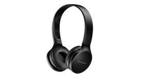 Panasonic безжични стерео слушалки c Bluetooth® и олекотен дизайн, черни