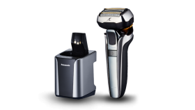 Машинка за бръснене Panasonic ES-LV9Q-S803, 5 остриета, Wet & Dry, Глава Multi-Flex 5D, Четка за почистване, Метален корпус, Сребриста