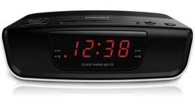 Philips радио с часовник, AM/FM тунер, 4-часово нулиране на будилника, aларма със зумер, повторение на алармата (дрямка), таймер за заспиване