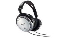 Philips HiFi слушалки, TV headphone 6m cable, 3.5-6.3mm adaptor, volume control
