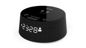 Philips Alarm clock, Bluetooth , with wireless phone charger-  Qi. USB port