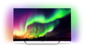 "Philips 65"" OLED TV, DVB - T2/T2-HD/C/S2, Android N TV, Ambilight 3, HDR Perfect, Micro Dimming Perfect, P5 Engine, 4100 PPI, 100 HZ, 200 HZ Frame rate, RC Keyboard, voice, swipe, 50W 2.1, DTS Premium Sound"