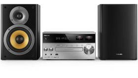 Philips микро музикална система с измервател на VU и възпрозвеждане чрез Bluetooth™ /CD /MP3 / USB/ FM, 150 W RMS