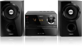 Philips музикална микросистема, RMS: 30 W, CD, MP3-CD, USB, FM