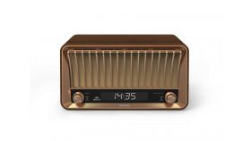 Philips Радио с Ретро Дизайн 20W, Bluetooth, дървен корпус, цифров дисплей, DAB+ и FM цифрово радио с предварителни настройки, Аудио вход