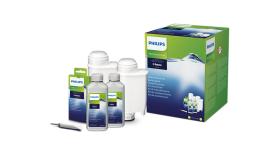 Philips Комплект за поддръжка за машините за еспресо Saeco 2 бр. препарати и 2 бр. филтри за вода, 6 обезмаслителя и смазочно масло