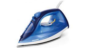 Philips Парна ютия EasySpeed Plus 2100 W, Парен удар 110 г, 30 г/мин непрекъсната пара, Керамична гладеща повърхност