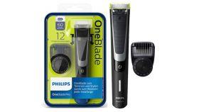 Philips OneBlade Pro Уред за подстригване, оформяне, бръснене, За всякаква дължина на косъма, Гребен оформяне, 12 настройки, С презареждане, за сухо и мокро