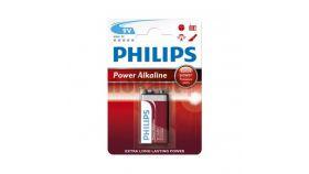 Philips Power Alkaline батерия 9V (E), 1-blister