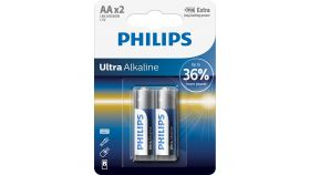 PHILIPS LR6E2B/10 Batteries PHILIPS Ultra alkaline AA LR6 BLISTER OF 2