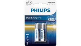 PHILIPS LR6E2B/10 Batteries PHILIPS Ultra alkaline AA LR6 BLISTER OF 2