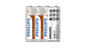 PHILIPS battery longlife AAA  4TK/PK