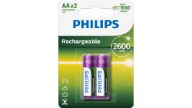 Philips Rechargeable battery HR6 AA, 2600 mAh, 2-blister