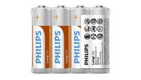 PHILIPS battery longlife AA  4TK/PK