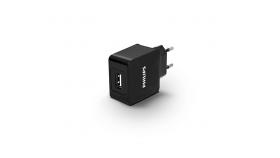 Philips универсално зарядно устройство за 2 USB устройства, 5V/2.1A