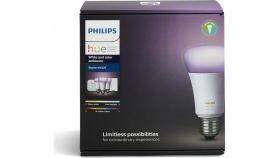 Philips HUE система за wireless осветление 9W, A60, E27 (3 крушки + Bridge+ Dimming Switch)