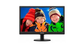 "Philips 18.5"" Slim LED 1366x768 HD 16:9 5ms 10 000 000:1 VGA, VESA, Piano black"