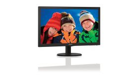 "Philips 21.5"" Slim LED 1920x1080 FullHD 16:9 5ms 250cd/m2 10 000 000:1 DVI, VESA, TCO, Piano black"