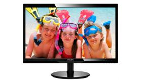 "Philips 24"" Slim LED 1920x1080 FullHD 16:9 5ms 250cd/m2 10 000 000:1 DVI, VESA, Piano Black"