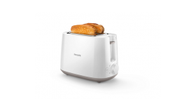PHILIPS Daily Collection Toaster HD2581/00 8 settings Integrated bun warming rack Compact design