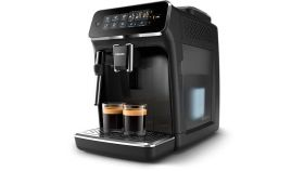 Philips Автоматична еспресо машина 3200 series 4 напитки, Приставка Classic за разпенване, Сензорен дисплей, цвят Черно