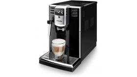 Philips автоматична кафемашина Saeco Series 5000 3 напитки, Приставка Classic за разпенване, PianoBlack, AquaClean