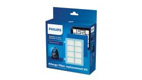 Philips Комплект аксесоари за подмяна 1 x филтър против алергии, 1 миещ се филтър за мотор, 1 миещ се пенест филтър