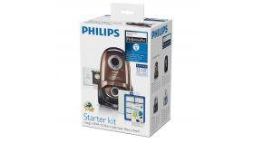 Philips PerformerPro Начален комплект 4 x торбички за прах (s-bag® ULP), 1 x HEPA13 филтър, 1 x трислоен филтър за мотор, 4 x аромат на лимон (s-fresh®)
