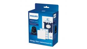 Philips  Комплект аксесоари за подмяна 3 x торбички за прах (s-bag® CLP), 1 x филтър против алергии, 1x входящ филтър за мотор