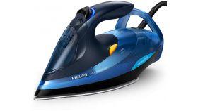 Philips Парна ютия Azur Advanced, технология OptimalTEMP 2600 W, 50 г/мин непрекъсната пара, 220 г парен удар, Гладеща повърхност SteamGlide Plus