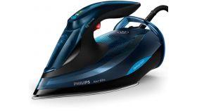 Philips Парна ютия Azur Elite, технология OptimalTEMP 3000 W, 65 г/мин непрекъсната пара, 260 г, парен удар, Гладеща повърхност SteamGlide Plus