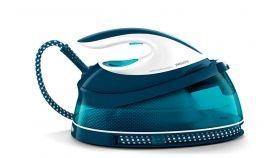 Philips Парогенератор  PerfectCare Compact Макс. 5, 8 бара налягане на помпата, До 330 г парен удар, Воден резервоар с вместимост 1, 5 л, Заключване при носене