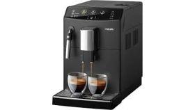 Philips Автоматична еспресо машина Saeco series 3000 Black, приготвя 4 напитки, приставка за разпенване на млякото, Черно, 5-степенна регулируема мелачка