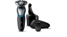 Philips Електрическа самобръсначка за сухо и мокро бръснене, система ножчета MultiPrecision, 45 мин. безжична работа/1 ч. зареждане, Прецизен тример SmartClick, Система SmartClean