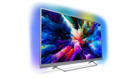 """Philips 55"""" UHD,  DVB T/C/T2/T2-HD/S/S2 , Android TV, Ambilight 3, Ultra, Micro Dimming Pro, 1700 PPI, DTS-HD Premium Sound 25W,  Silver"""